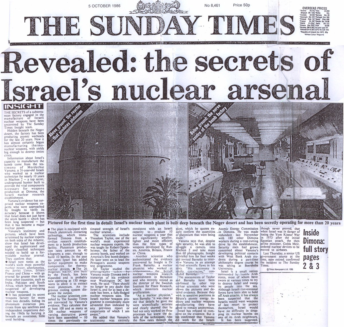 Israel's nuclear weapons