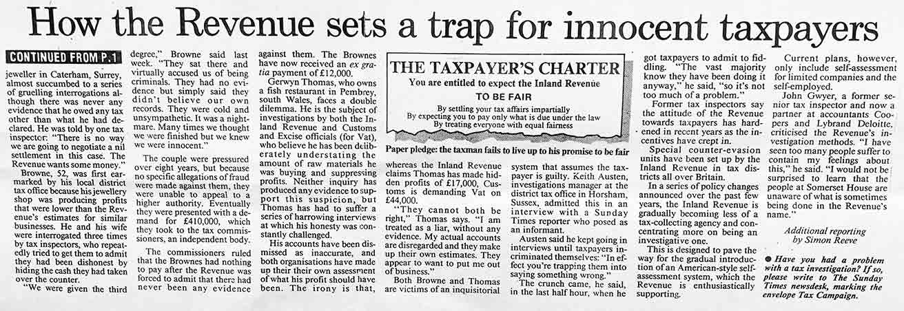 How the Revenue Sets a Trap for Innocent Tax Payers