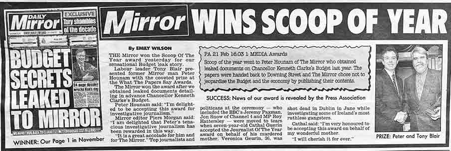 Mirror man wins Scoop of the Year