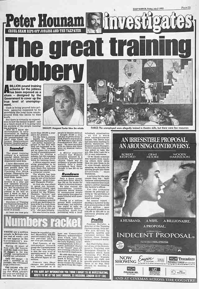 The Great Training Robbery Mirror