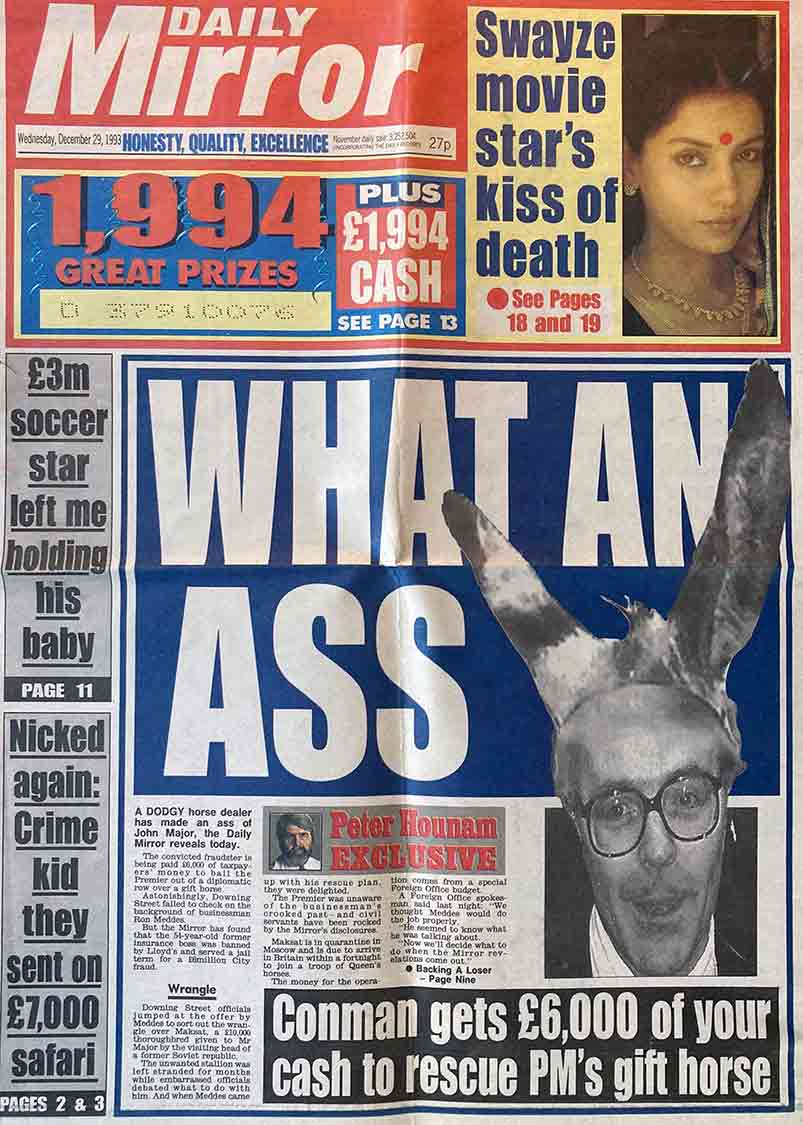 Diplomatic row over horse - daily mirror 1993