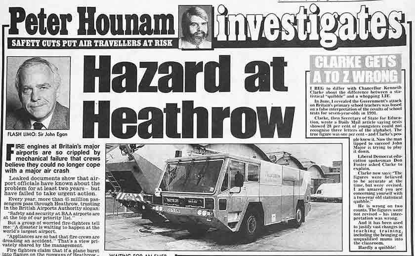 hazard at heathrow