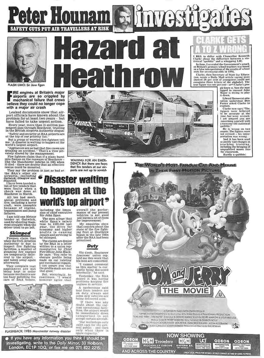 hazard at heathrow full page