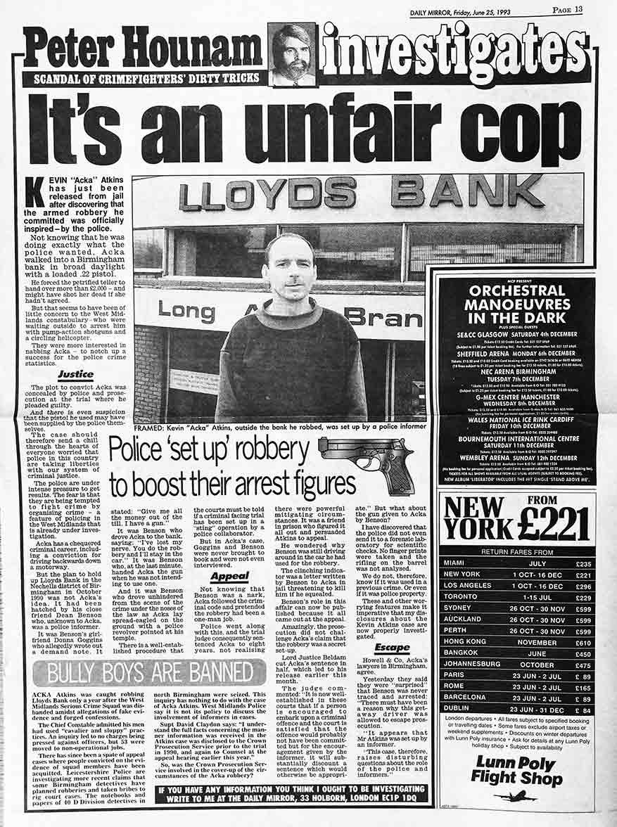 its an unfair cop