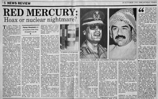Red Mercury Hoax or Nuclear Nightmare?